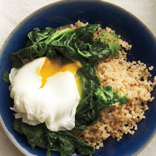 Sauteed Spinach with Poached Eggs