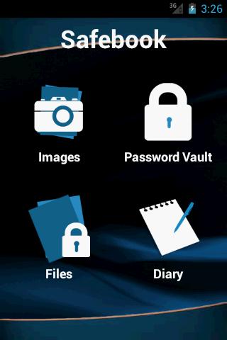 Safe book - screenshot