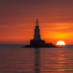 Ahtopol lighthouse by Yordan Mihov - Landscapes Sunsets & Sunrises ( water, ahtopol, lighthouse, sea, burgas, sunrise, black, bulgaria )
