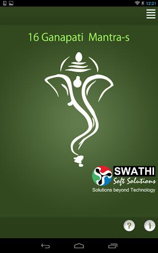 16 Ganapati Mantra-s