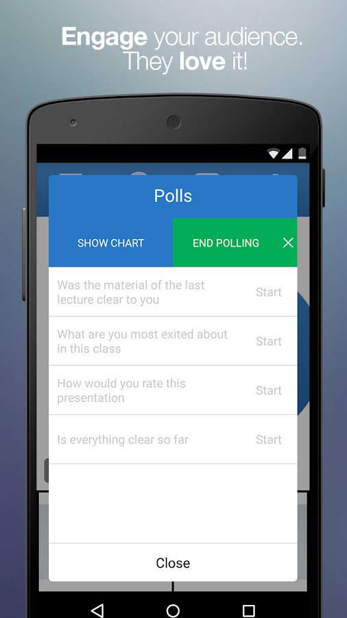 how to create a poll on messenger android