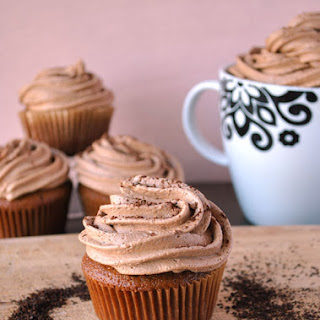 Coffee Cupcakes With Mocha Buttercream Frosting.