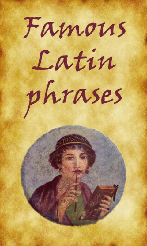 Famous Latin Phrases- screenshot