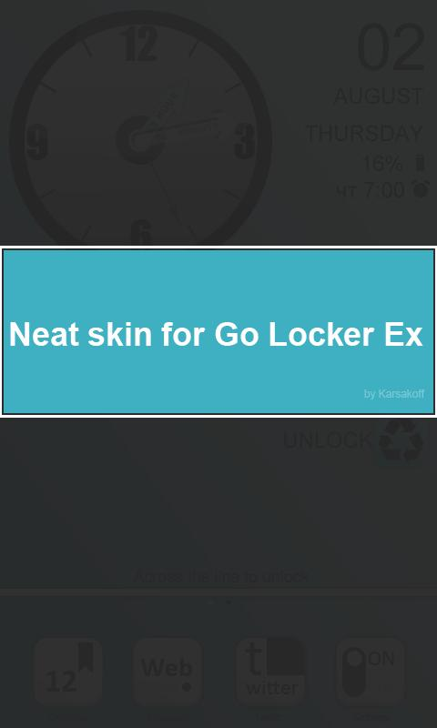 Neat Skin for Go Locker - screenshot