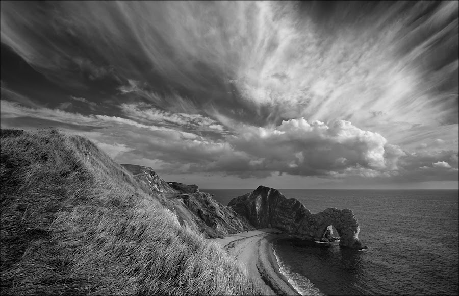 Durdle Door by Eric Bush - Landscapes Cloud Formations ( clouds., durdle door, dorset,  )