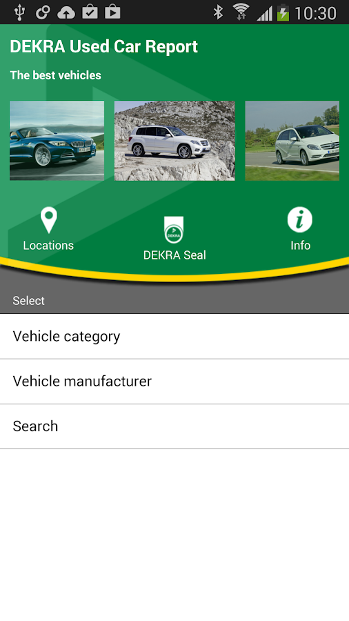 DEKRA Used Car Report - screenshot