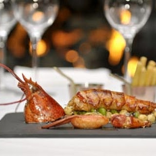 Lobster With Broad Bean And Chickpea Casserole.
