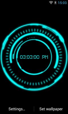 Iron Jarvis Laser Clock - screenshot