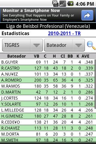 Beisbol Profesional Venezuela- screenshot