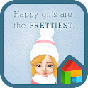 happy girl rose dodol theme icon
