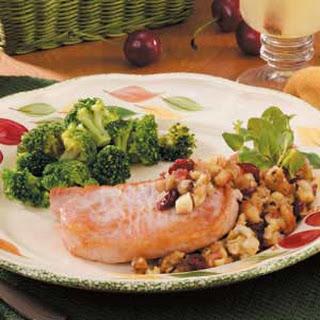 Chops With Fruit Stuffing