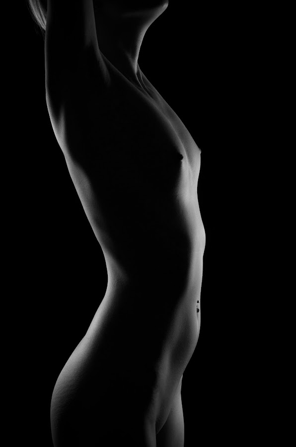 Shape by Justin Case - Nudes & Boudoir Artistic Nude ( body, nude, female, black and white, woman, bodyscape, shape, sensual,  )