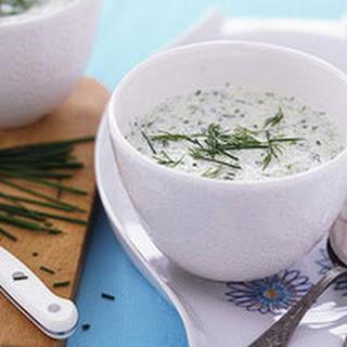 Triple-Herb Cucumber Soup