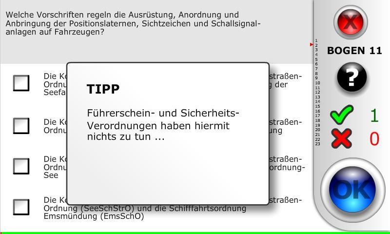 SBF-See (nur Fachbereich See)- screenshot