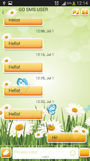 GO短信加强版雏菊