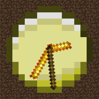 Gold Minecraft Watch Face