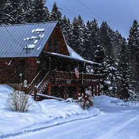american cabin by Axle Ethington - Buildings & Architecture Homes ( cabin, america, utah, american fork, snow )