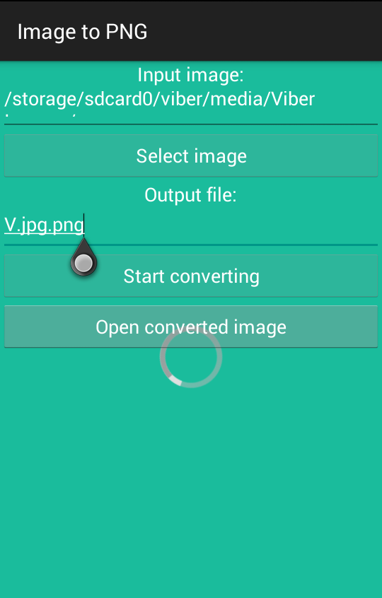 Image to PNG- screenshot