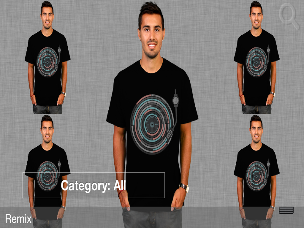 Men's T-Shirt Store Plus App - screenshot