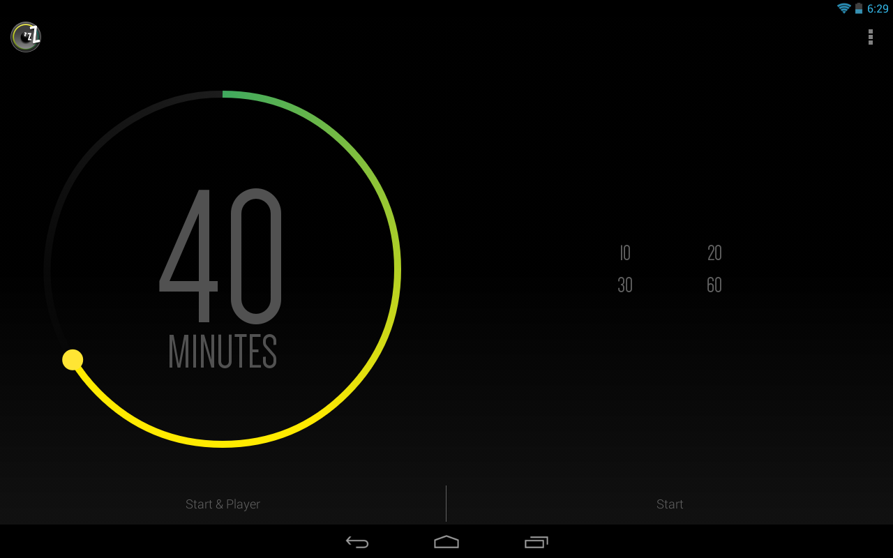 Sleep Timer: captura de pantalla