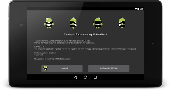 SD Maid Pro - Unlocker - screenshot thumbnail