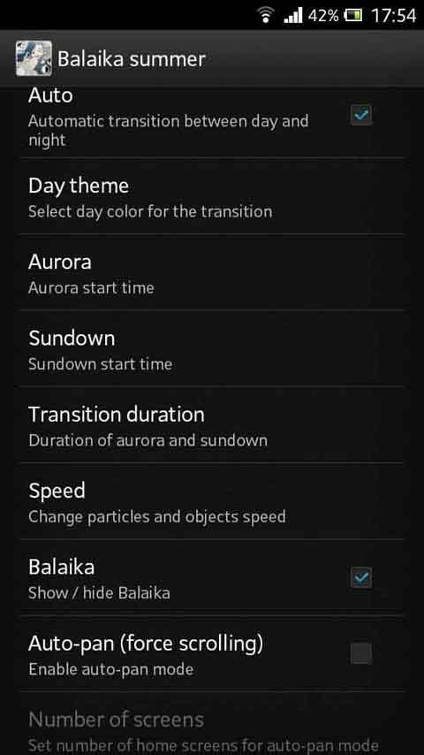 Balaika summer LWP Real Time- screenshot