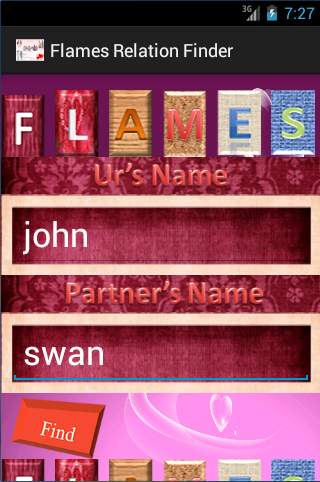 Flames Relation Finder