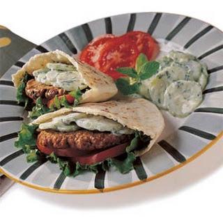 Greek Pocket Bread Sandwiches with Lamb.