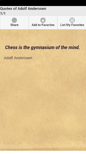 Quotes of Adolf Anderssen