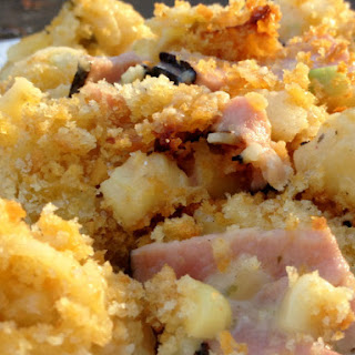 Ham and Cheese Casserole with Quinoa Noodles.