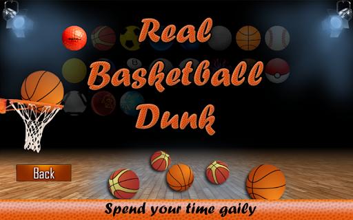 Real Basketball Dunk