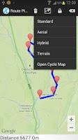 Screenshot of Run & Bike Route Planner