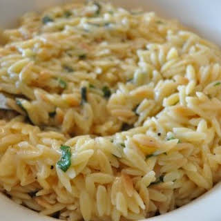 Orzo with Parmesan and Basil.
