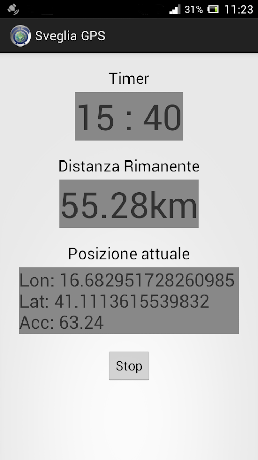GPS Alarm- screenshot