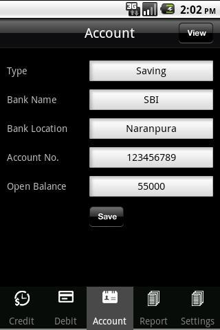 iAccounts- screenshot