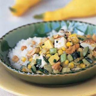 Thai Summer Squash and Tofu with Fresh Corn.