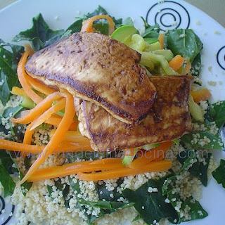 Couscous with Panela Cheese.