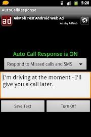 Auto Call Response Screenshot 1
