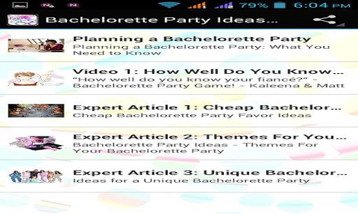 【免費娛樂App】Bachelorette Party Ideas-APP點子