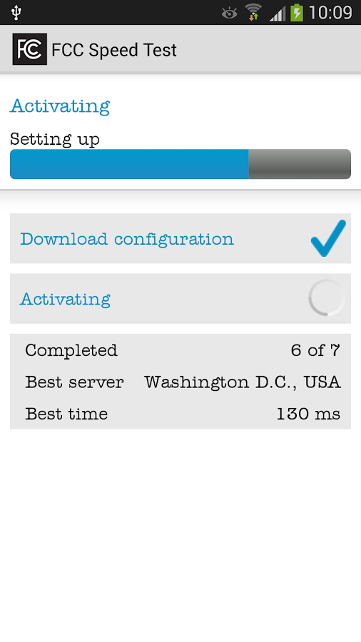 FCC Speed Test- screenshot