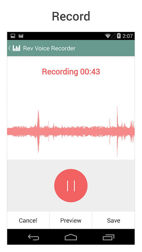 【免費生產應用App】Rev Audio & Voice Recorder-APP點子