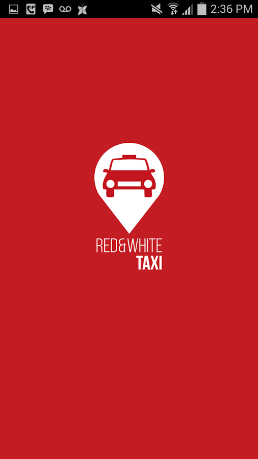 Red & White Taxi APP- screenshot