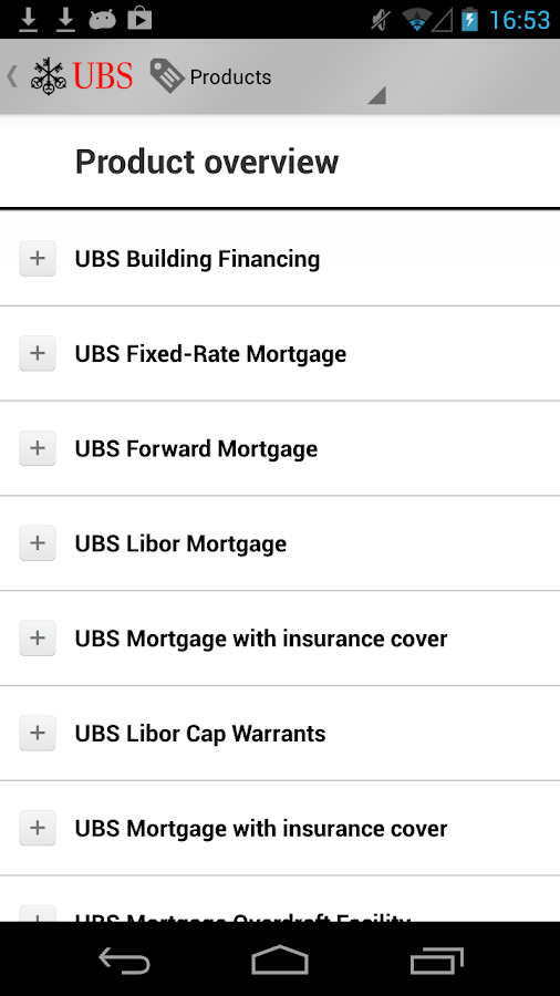 UBS Mortgages - screenshot