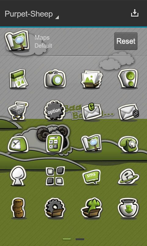 Next Launcher Theme P.Sheep - screenshot