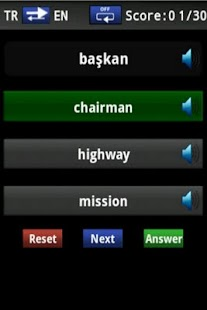 Vocabulary Trainer(TR/EN) Beg. - screenshot thumbnail