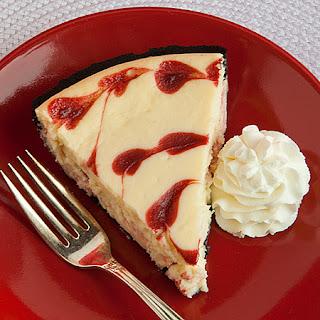 White Chocolate and Raspberry Heart Cheesecake.