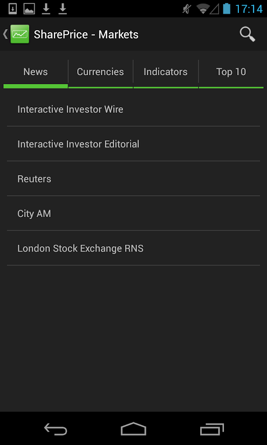SharePrice - screenshot