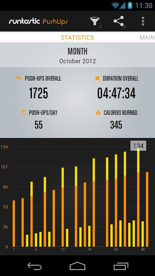 Runtastic Push-Ups Workout PRO - screenshot