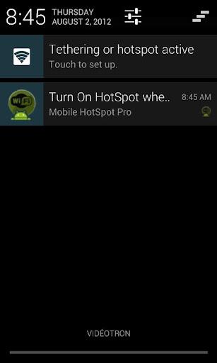 Mobile HotSpot screenshot