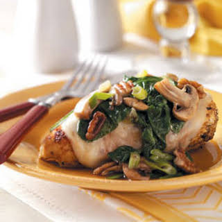 Spinach and Mushroom Smothered Chicken.